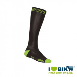 Calze Compressive da Ciclismo BRN nero/verde fluo online shop