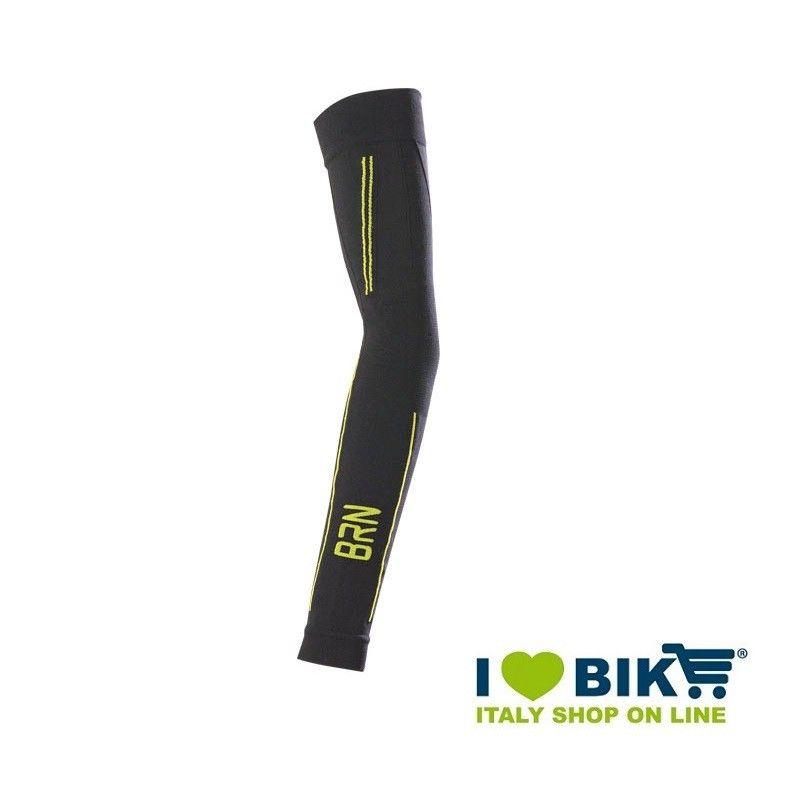 Bracciali ciclismo invernali BRN nero/giallo fluo taglia unica online shop