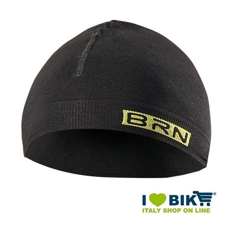 Berretto da ciclismo sottocasco BRN nero-giallo fluo taglia unica online shop