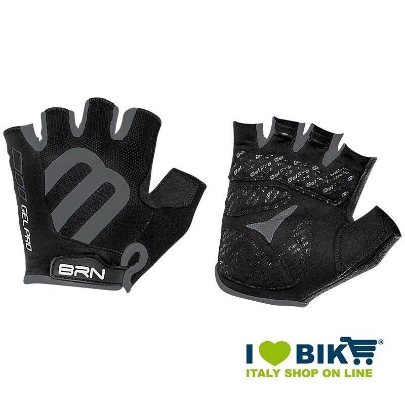 Gloves short cycling BRN Gel Pro black online shop