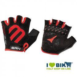 Guanti ciclismo corti BRN Gel Pro nero/rosso online shop