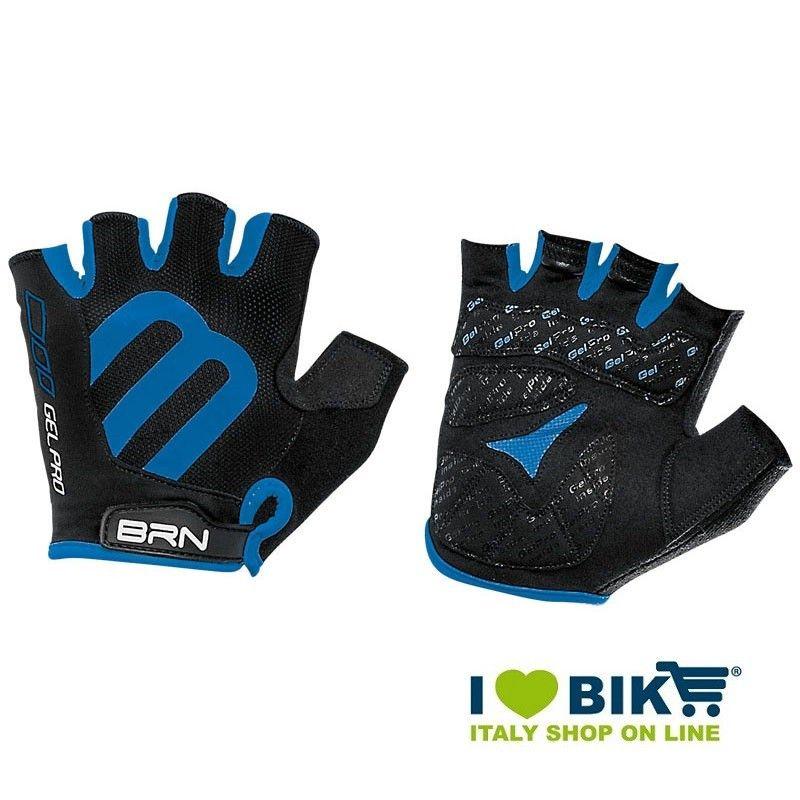Guanti ciclismo corti BRN Gel Pro nero/blu online shop