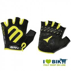 Gloves short cycling BRN Gel Pro black/yellow fluo online shop