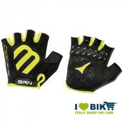 Guanti ciclismo corti BRN Gel Pro nero/giallo fluo online shop