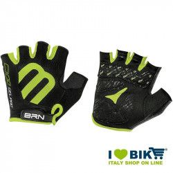 Gloves short cycling BRN Gel Pro black/green fluo online shop