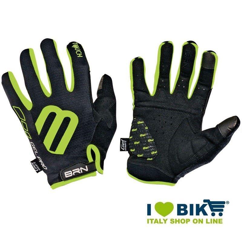 Guanti lunghi ciclo BRN Gel Pro Touch nero/fluo verde online shop