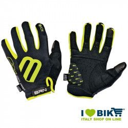 Guanti lunghi ciclo BRN Gel Pro Touch nero/fluo giallo online shop