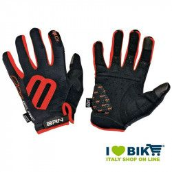Long Gloves BRN Cycle Gel Pro Touch Black / red online shop