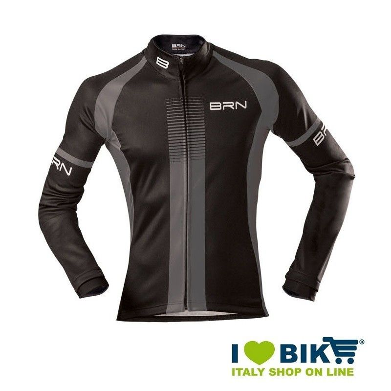 Giubbino invernale BRN uomo nero / grigio bike shop