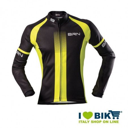 Giubbino invernale BRN uomo nero / giallo fluo bike shop
