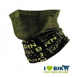 Neck warmer multifunction BRN black / yellow fluo bike store