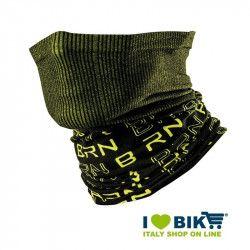 Scaldacollo multifunzione BRN nero / giallo fluo bike shop