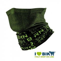 Neck warmer multifunction BRN black / green fluo bike store