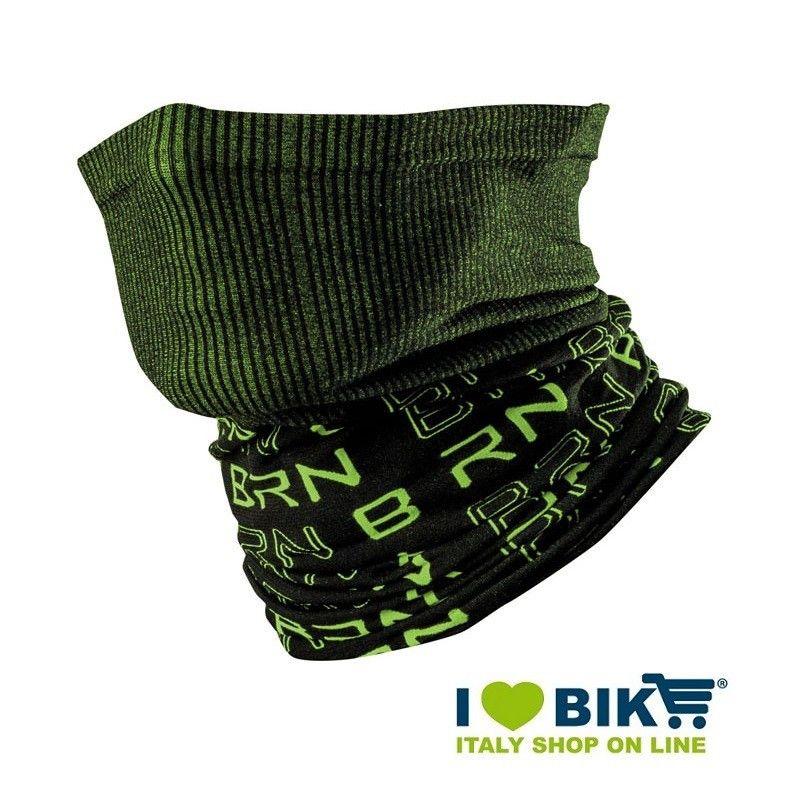 Scaldacollo multifunzione BRN nero / verde fluo bike shop