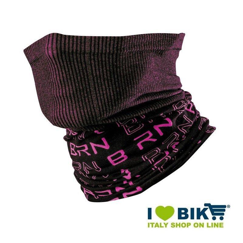 Scaldacollo multifunzione BRN nero / fluo fuxia bike shop
