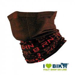 Scaldacollo multifunzione BRN nero / rosso bike shop