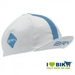 Cappellino BRN bianco / azzurro taglia unica bike store