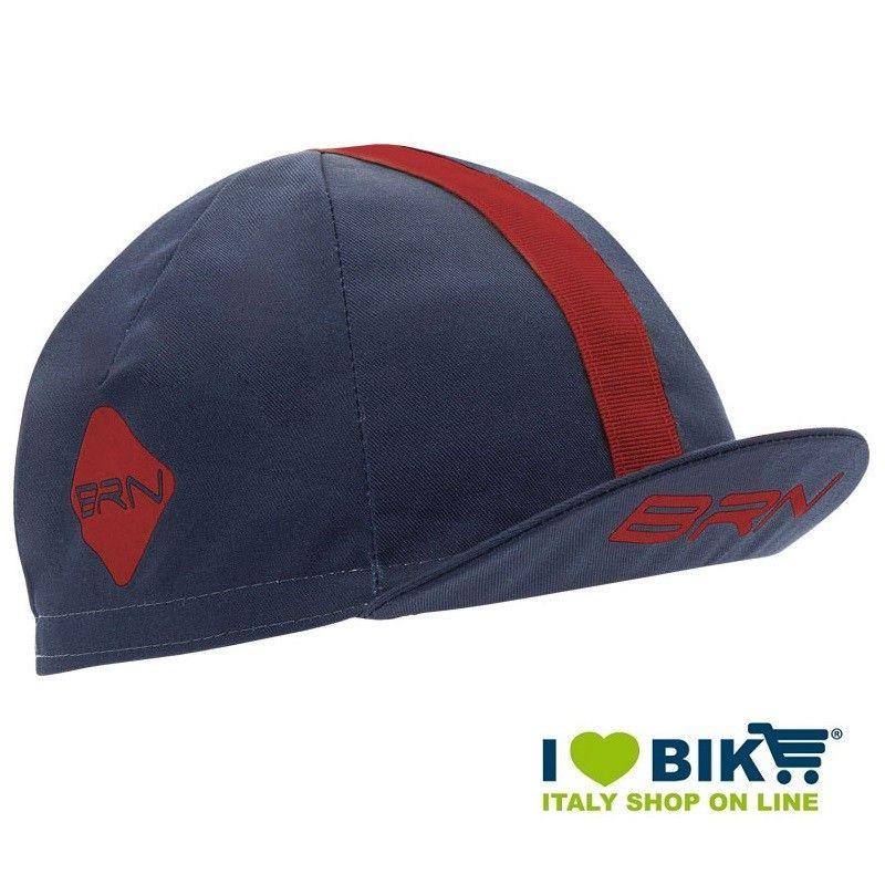Cappellino ciclismo BRN Blu / bordeaux taglia unica bike store