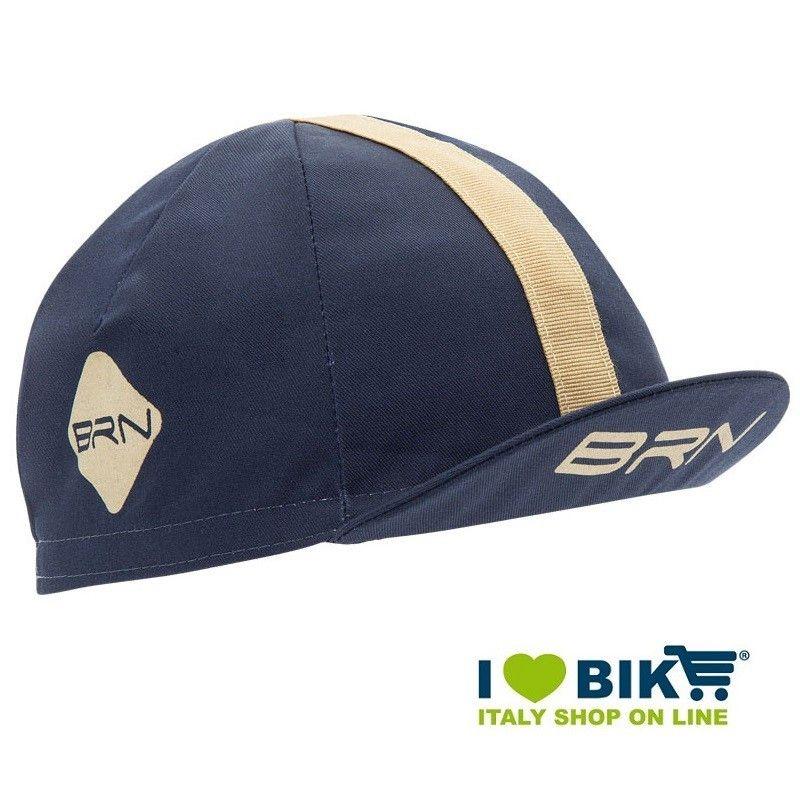 Cappellino ciclismo BRN Blu / crema taglia unica bike store