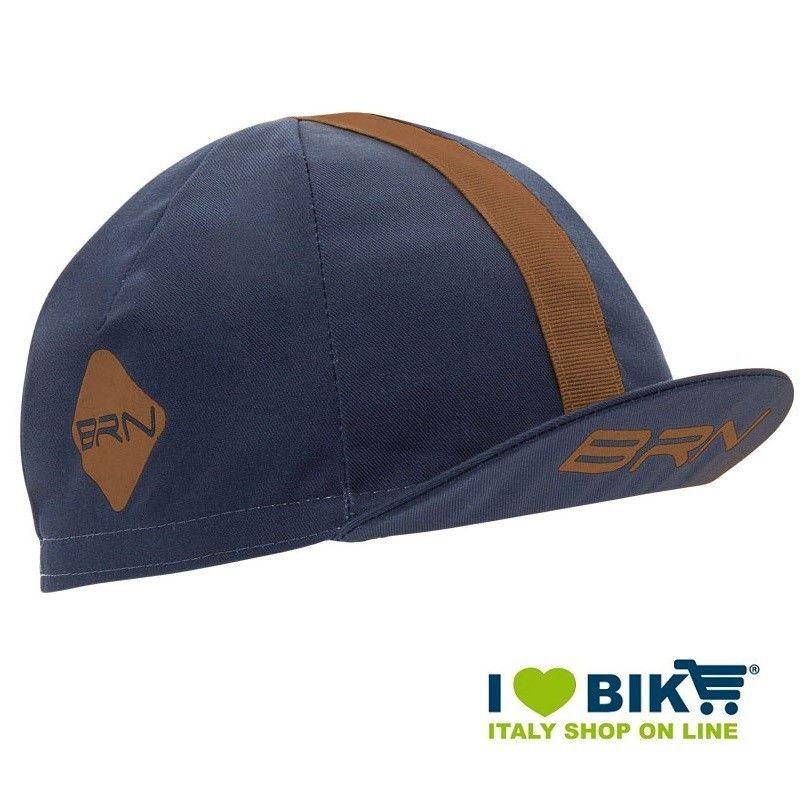 Cappellino ciclismo BRN Blu / marrone taglia unica bike store