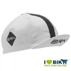 Cappellino ciclismo BRN bianco / nero taglia unica bike store