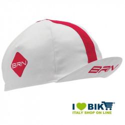 Cappellino ciclismo BRN bianco / rosso taglia unica bike store