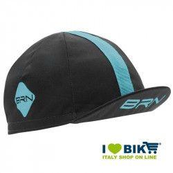 Cappellino ciclismo BRN grigio / azzurro taglia unica bike store