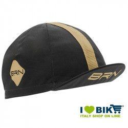 Cappellino ciclismo BRN grigio / crema taglia unica bike shop