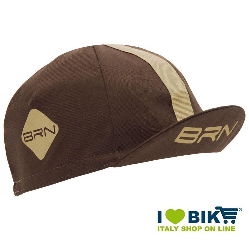 Cappellino retrò ciclismo BRN marrone / crema taglia unica bike shop