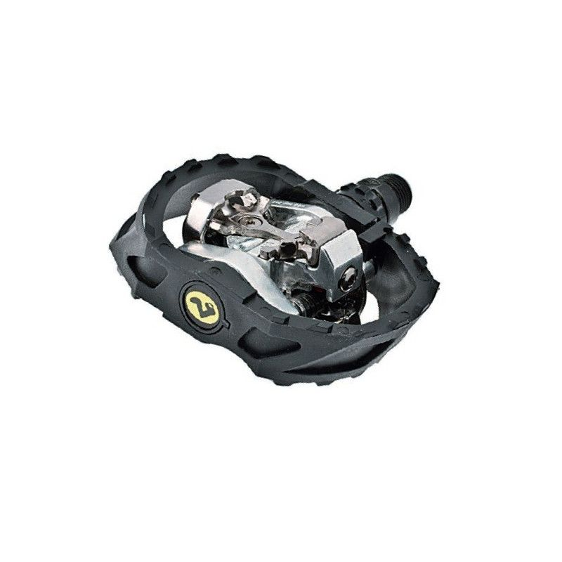 Couple of MTB Pedals Shimano M 424 with pivot bearings  - 1