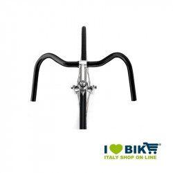 Manubrio city bike Mustache in alluminio nero ricambi bici online shop