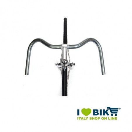 Manubrio city bike Mustache in alluminio silver ricambi bici online shop