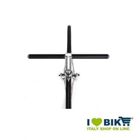 Manubrio bici fixed Flat in alluminio nero bike shop