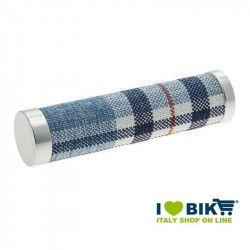 Coppia manopole bici BRN Canvas azzurre bike shop