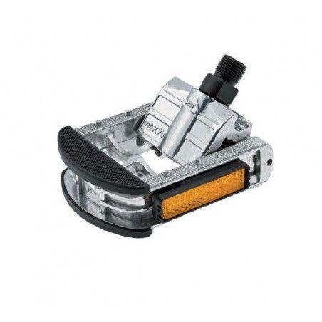 Folding pedals in aluminum
