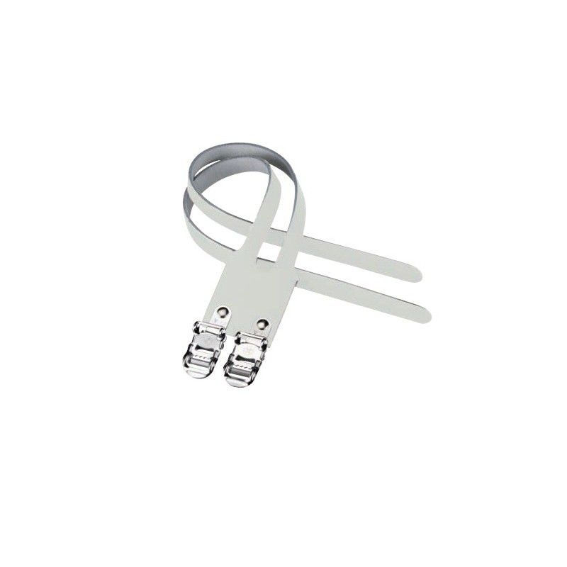 Cinturini Doppi in Cuoio bianchi  - 1