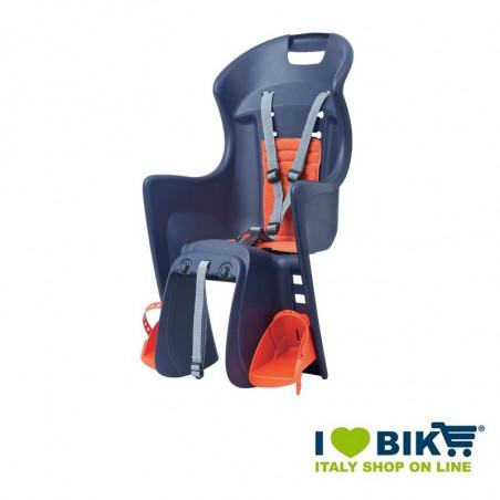 Seggiolino per biciclette omologato boodie al portapacco blu bike store