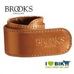 Coppia salvapantaloni Brooks a strap in pelle miele bike shop