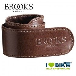 Coppia salvapantaloni Brooks a strap in pelle marrone bike shop