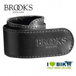 Coppia salvapantaloni Brooks a strap in pelle nera bike shop