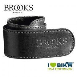 Coppia salvapantaloni Brooks a strap in pelle nera bike shop