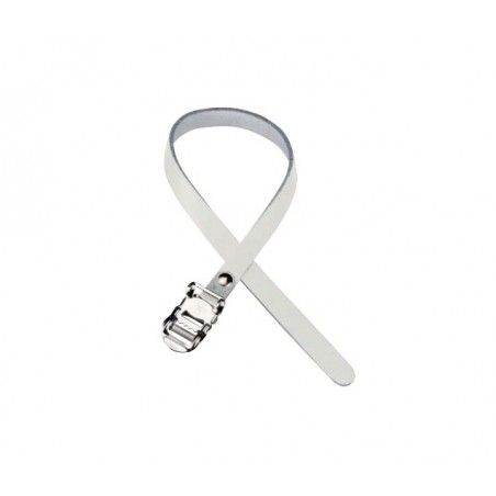 Simple Leather Strap White