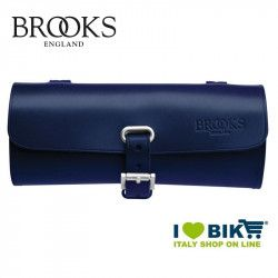 Small bicycle saddle bag Brooks Challenge blue online shop