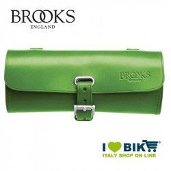 Small bicycle saddle bag Brooks Challenge green online shop