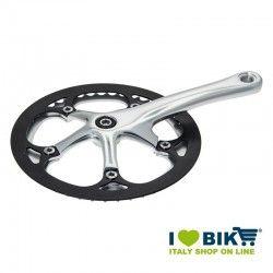 Guarnitura per bici Fixed Silver con paracorona nero online shop
