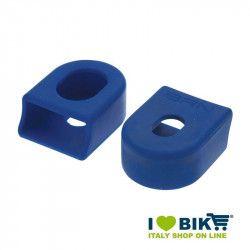 Paia protezioni pedivelle per guarnitura bici corsa in gomma blu shop online