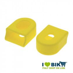Pairs cranks protections for garnishing bike race in yellow rubber shop online