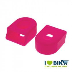 Pairs cranks protections for garnishing bike race in pink rubber shop online