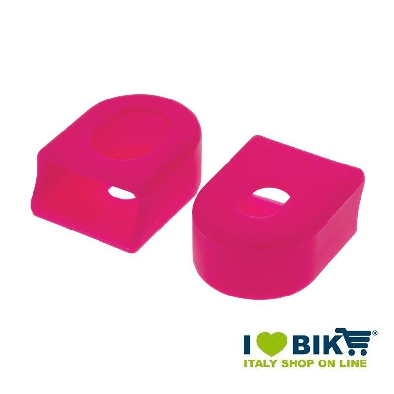 Paia protezioni pedivelle per guarnitura bici corsa in gomma rosa shop online