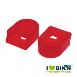Paia protezioni pedivelle per guarnitura bici corsa in gomma rossa shop online